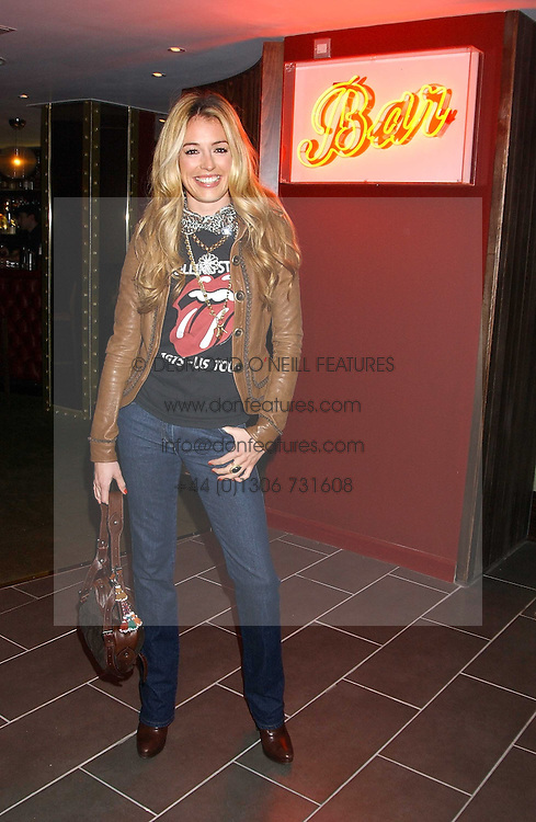 TV presenter CAT DEELEY at the opening party for a new bowling alley All Star Lanes, at Victoria House, Bloomsbury Place, London on 19th January 2006.<br /><br />NON EXCLUSIVE - WORLD RIGHTS