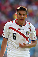 Óscar Duarte of Costa Rica during the 2014 FIFA World Cup match at Itaipava Arena Pernambuco, Recife metropolitan area<br /> Picture by Stefano Gnech/Focus Images Ltd +39 333 1641678<br /> 20/06/2014