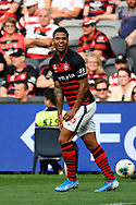 SYDNEY, AUSTRALIA - NOVEMBER 02: Western Sydney Wanderers forward Kwame Yeboah (27) appeals to the referee during the round 4 A-League soccer match between Western Sydney Wanderers FC and Brisbane Roar FC on November 02, 2019 at Bankwest Stadium in Sydney, Australia. (Photo by Speed Media/Icon Sportswire)