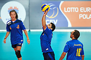 Katowice, Poland - 2017 September 02: Athlete Naim Nabil from SO Italy receives the ball while SO Italy versus SO Belarus during European Unified Volleyball Tournament 2017 at Spodek Hall on September 02, 2017 in Katowice, Poland.<br /> <br /> Adam Nurkiewicz declares that he has no rights to the image of people at the photographs of his authorship.<br /> <br /> Picture also available in RAW (NEF) or TIFF format on special request.<br /> <br /> Any editorial, commercial or promotional use requires written permission from the author of image.<br /> <br /> Image can be used in the press when the method of use and the signature does not hurt people on the picture.<br /> <br /> Mandatory credit:<br /> Photo by © Adam Nurkiewicz / Mediasport