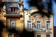 """Das """"Grand Hotel"""" auf dem mittleren Teil des Wenzelsplatz."""