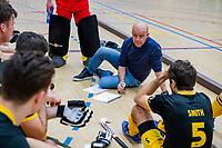 AMSTERDAM  - coach Eric Verboom (Den Bosch) tijdens het starttoernooi zaalhockey in Sporthallen Zuid.    COPYRIGHT KOEN SUYK