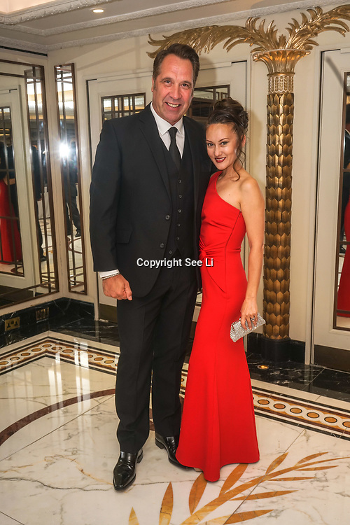 London, UK, 8th June 2017. David Seaman and wife attends the the Variety's 15th Gastronomic Evening is a Children Charity at The Dorchester, 55 Park Lane, London. by See Li
