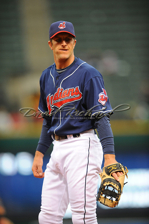 The Seattle Mariners defeated the Cleveland Indians 7-2 on April 29, 2008 at Progressive Field in Cleveland..Casey Blake of Cleveland plays first base.