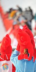 21.01.2011, Hahnenkamm, Kitzbuehel, AUT, FIS World Cup Ski Alpin, Men, Super G, im Bild //  Hahnenkamm Feature Maskottchen // during the men super g race at the FIS Alpine skiing World cup in Kitzbuehel, EXPA Pictures © 2011, PhotoCredit: EXPA/ S. Trimmel
