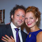 NLD/Amsterdam/20130902 - Wereldpremiere van de film Game, Janna Fassaert en partner Mike Niemans