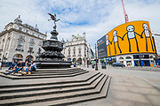 A new artwork entitled We Are Together by STIK was unveiled on London's 783 square metre Piccadilly Lights, the largest screen in Europe, as part of Young Westminster Foundation's (YWF)'s new flagship campaign  to  support young people during the coronavirus. STIK's figures rotate around the curved screen portraying young people living in the heart of London, holding hands as a beacon of hope and connectedness with the rest of the world. The 'lockdown' continues for the Coronavirus (Covid 19) outbreak in London.
