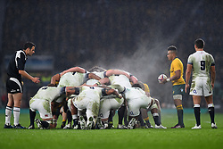 November 18, 2017 - London, England, United Kingdom - Scrum down during Old Mutual Wealth Series between England against Argentina at Twickenham stadium , London on 11 Nov 2017  (Credit Image: © Kieran Galvin/NurPhoto via ZUMA Press)