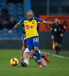 Nathan Redmond of Southampton (R) and James Tarkowski of Burnley in action - Mandatory by-line: Jack Phillips/JMP - 02/02/2019 - FOOTBALL - Turf Moor - Burnley, England - Burnley v Southampton - English Premier League