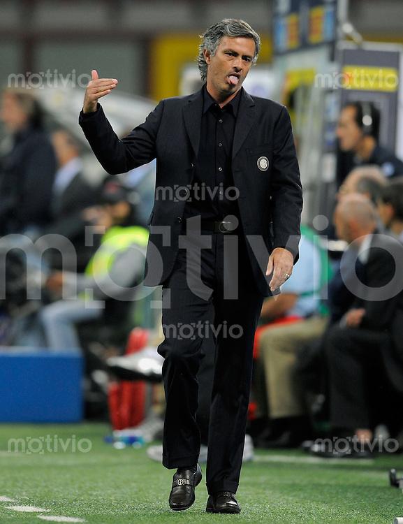 FUSSBALL  International Serie A   SAISON 2009/2010   03.10.2009 Inter Mailand.- Udinese Calcio Inter Trainer Jose Mourinho