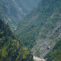 The formerly called Hindustan - Tibet road, going along the Sutlej river.