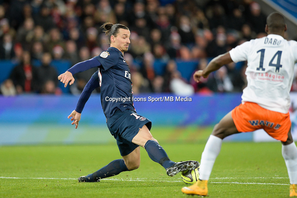 Zlatan IBRAHIMOVIC - 20.12.2014 - Paris Saint Germain / Montpellier - 17eme journee de Ligue 1 -<br />