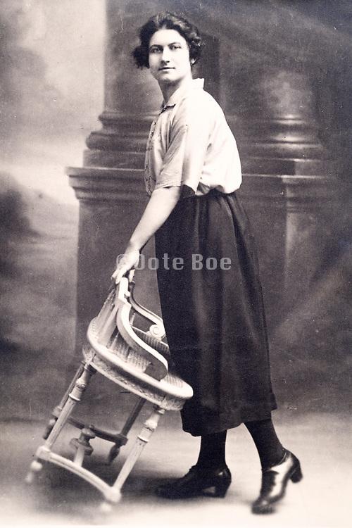 vintage studio portrait of a woman