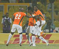 Photo: Steve Bond/Richard Lane Photography.<br />Ivory Coast v Mali. Africa Cup of Nations. 29/01/2008. Boubacar Sanogo (carrying) celebrates scoring no3
