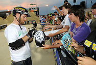 Ryan Nyquist signs autographs after  the AST Dew Tour Right Guard Open BMX Dirt Finals Friday, July 18, 2008 in Cleveland, OH.