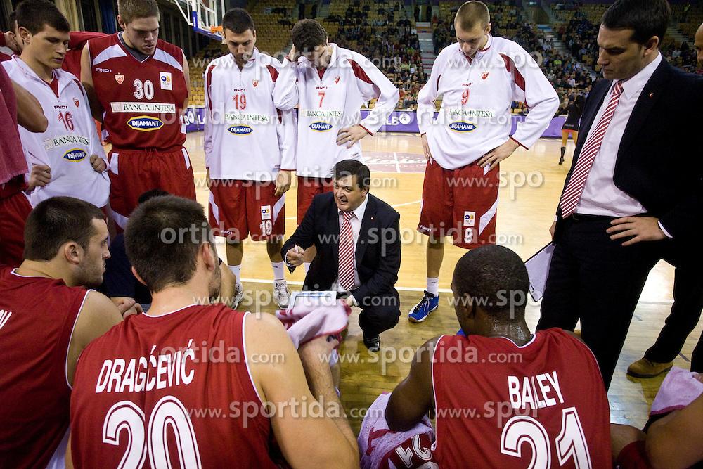 Coach of Crvena zvezda Aco Petrovic at basketball match of NLB League between KK Union Olimpija and KK Crvena zvezda,  on October 24, 2009, Arena Tivoli, Ljubljana, Slovenia.  Union Olimpija won 94:76.  (Photo by Vid Ponikvar / Sportida)