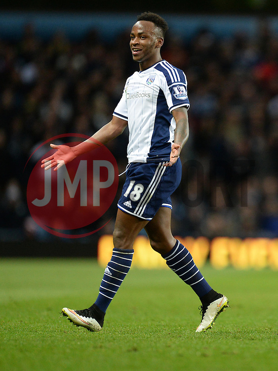 West Bromwich Albion Saido Berahino - Photo mandatory by-line: Alex James/JMP - Mobile: 07966 386802 - 03/03/2015 - SPORT - football - Birmingham - Villa Park - Aston Villa v West Brom - Barclays Premier League