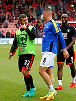 Football - 2016 / 2017 Premier League - AFC Bournemouth vs. Everton<br /> <br /> Bournemouth's Jack Wilshere and Ross Barkley of Everton chat as they walk off after the pre match warm up at Dean Court (The Vitality Stadium) Bournemouth<br /> <br /> Colorsport/Shaun Boggust