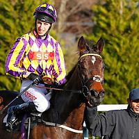 Random Success and George Baker winning the 12.30 race