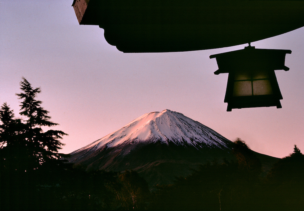 Sunrise brings a subtle glow to Mt. Fuji from a hotel in Fuji-Hakone-Izu N. P., Japan.