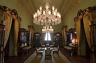 Jade Room at Taj Falaknuma Palace in Hyderabad, India on April 20, 2012<br /> (Photo by Kuni Takahashi)