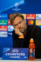SEVILLE, SPAIN - Monday, November 20, 2017: Liverpool's manager Jürgen Klopp during a press conference ahead of the UEFA Champions League Group E match between Sevilla FC and Liverpool FC at the Estadio Ramón Sánchez Pizjuán. (Pic by David Rawcliffe/Propaganda)