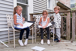 Addyson, Carlee and Jackson hung out over in the house of Payne while their mother , Sunday, Sept. 18, 2016.