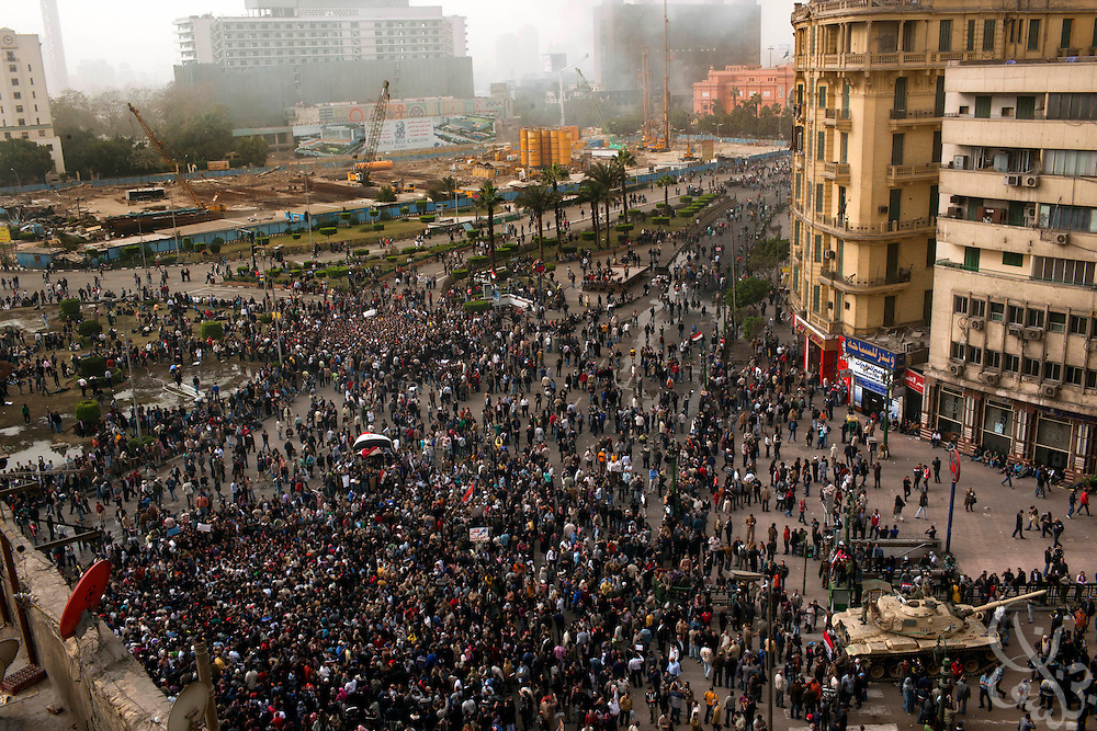 Egyptian protesters gather again by the thousands in central Tahrir square in downtown Cairo January 29, 2011. The widespread protests across Egypt are an unprecedented challenge to the rule of President Hosni Mubarak.