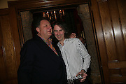 Jean Pigozzi and Ivor Braka, Party for Jean Pigozzi hosted by Ivor Braka to thank him for the loan exhibition 'Popular Painting' from Kinshasa'  at Tate Modern. Cadogan sq. London. 29 May 2007.  -DO NOT ARCHIVE-© Copyright Photograph by Dafydd Jones. 248 Clapham Rd. London SW9 0PZ. Tel 0207 820 0771. www.dafjones.com.