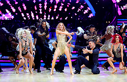 Stacey Dooley (centre) performs during a photocall before the opening night of the Strictly Come Dancing Tour 2019 at the Arena Birmingham, in Birmingham. Picture date: Thursday January 17, 2019. Photo credit should read: Aaron Chown/PA Wire