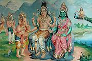 Hindu temple mural in Nagaipattinam.