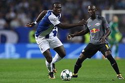 November 1, 2017 - Porto, Porto, Portugal - Porto's Cameroonian forward Vincent Aboubakar (L) in action with Midfielder Naby Keita of Leipzig (R) during the UEFA Champions League Group G match between FC Porto and RB Leipzig at Dragao Stadium on November 1, 2017 in Porto, Portugal. (Credit Image: © Dpi/NurPhoto via ZUMA Press)