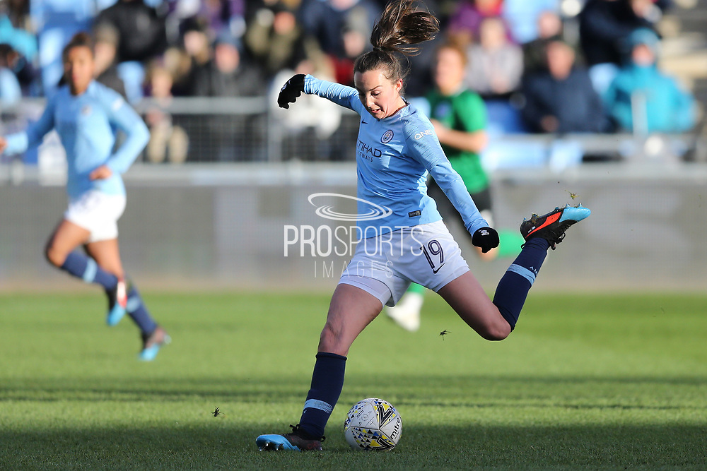 Manchester City Women's forward Caroline Weir (19) during the FA Women's Super League match between Manchester City Women and Brighton and Hove Albion Women at the Sport City Academy Stadium, Manchester, United Kingdom on 27 January 2019.