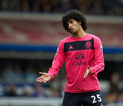 BIRMINGHAM, ENGLAND - Saturday, October 2, 2010: Everton's Marouane Fellaini looks dejected during the match against Birmingham City during the Premiership match at St Andrews. (Photo by David Rawcliffe/Propaganda)