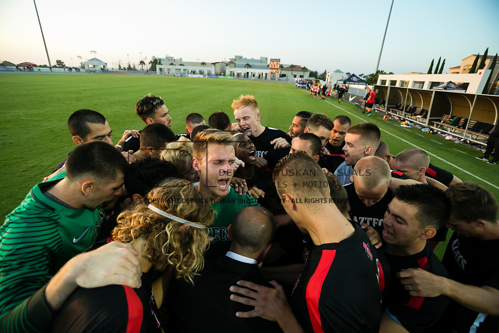 04 September 2017: The Aztecs beat the gauchos 3-1 at the Aztec Sports Deck on the campus of San Diego State.<br /> www.sdsuaztecphotos.com