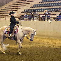 Lauren Wood | Buy at photos.djournal.com<br /> Mazie Bowen, 11, of Briarfield, Alabama rides her horse past the judges in the Youth Horsemanship 18 & Under category on Friday, March 10 during the annual MSU Bulldog Classic AQHA Horse Show at the MS Horse Park in Starkville.