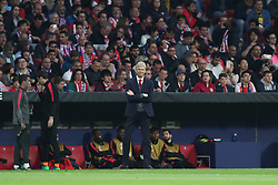 May 3, 2018 - Madrid, Spain - Manager ARSENE WENGER of Arsenal FC looks dejected during the UEFA Europa League, semi final, 2nd leg football match between Atletico de Madrid and Arsenal FC on May 3, 2018 at Metropolitano stadium in Madrid, Spain (Credit Image: © Manuel Blondeau via ZUMA Wire)