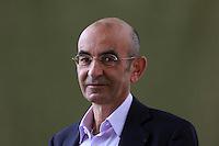Raja Shehadeh<br /> Edinburgh International Book Festival 2014 photos taken in Charlotte Square Gardens. Edinburgh. Pako Mera 12/08/2014