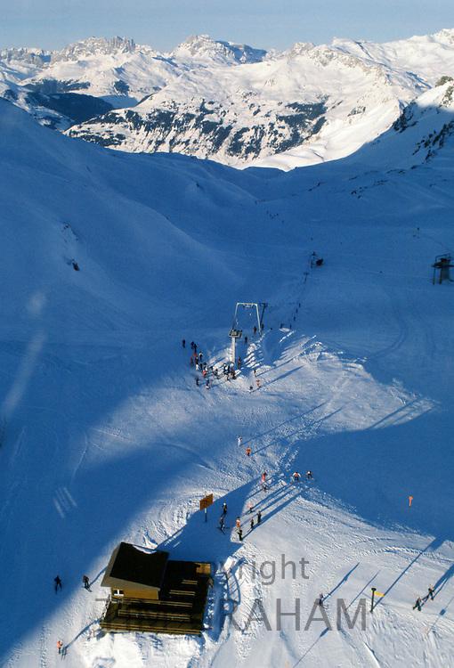 Alpine ski resort of Klosters, Switzerland