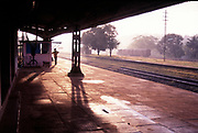 I found myself at the railway station at Padil near Mangalore. If I remember right, I was shooting for a calendar for SAN engineering, a company that makes locomotive engines. Morning light was beautiful and the station deserted..