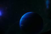 computer generated alien planet