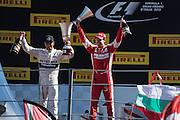 September 3-5, 2015 - Italian Grand Prix at Monza: Sebastian Vettel (GER), Ferrari, Lewis Hamilton (GBR), Mercedes
