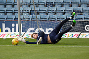 14th September 2019; Dens Park, Dundee, Scotland; Scottish Championship, Dundee Football Club versus Alloa Athletic; Harrison Sharp of Dundee during the warm up before the match