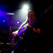 Trollh&auml;ttan 2012 03 23 Folkets Hus Apollon<br /> Hammerfall<br /> Electric Earth  f&ouml;rband<br /> Lyris Karlsson Bass Guitar <br /> <br /> ----<br /> FOTO : JOACHIM NYWALL KOD 0708840825_1<br /> COPYRIGHT JOACHIM NYWALL<br /> <br /> ***BETALBILD***<br /> Redovisas till <br /> NYWALL MEDIA AB<br /> Strandgatan 30<br /> 461 31 Trollh&auml;ttan<br /> Prislista enl BLF , om inget annat avtalas.
