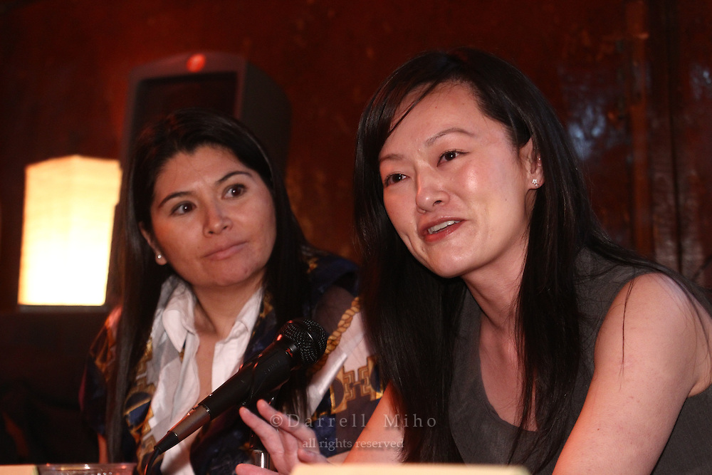 Sep. 08, 2010; Los Angeles, CA - KIND: Kids In Need of Defense panel discussion and mixer at the Far Bar in Little Tokyo. ..photo credit: Darrell Miho..(L to R) Panelists:.Gladis Molina, KIND Pro Bono Attorney Coordinator - Los Angeles.Stacey Wang, Associate, Holland & Knight LLP
