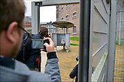 Nederland, the Netherlands, Arnhem, 15-9-2015In de voormalige Penitentiaire inrichting, koepelgevangenis, de Berg wordt door het COA, centraal orgaan asielzoekers, een noodopvang om vluchtelingen op te vangen, ingericht. Vanavond nemen zij hier hun intrek.In Holland the growing number of refugees forces the government to house them temporary and improvised in unused or empty buildings and halls. Often these are rented from private owners or real-estate firms. In this case an empty, unused prison.FOTO: FLIP FRANSSEN/ HH