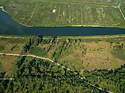 Nederland, Flevoland, Almere-Lelystad, 26-08-2019; begin van het natuurgebied de Oostvaardersplassen, met onder andere de gebieden Sompen en Kreekpunt en het water de Vinger. Natura 2000-gebied, in beheer bij Staatsbosbeer, onderdeel van Nationaal Park Nieuw Land. <br /> Beginning of the Oostvaardersplassen area.<br /> luchtfoto (toeslag op standard tarieven);<br /> aerial photo (additional fee required);<br /> copyright foto/photo Siebe Swart