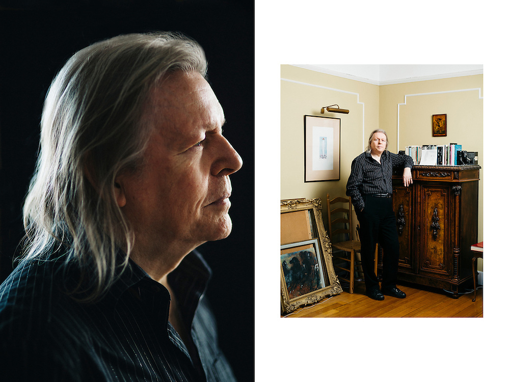 Playwright Christopher Hampton, photographed at home in London.