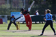 Lancashire Thunders Sophie Ecclestone during the Vitality T20 Blast North Group match between Lancashire Thunder and Yorkshire Vikings at Liverpool Cricket Club, Liverpool, United Kingdom on 13 August 2019.