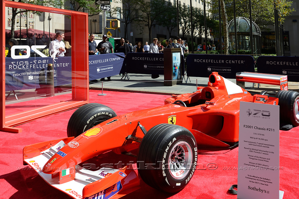 Car of 7 time Formula 1 champion Michael Schumacher.